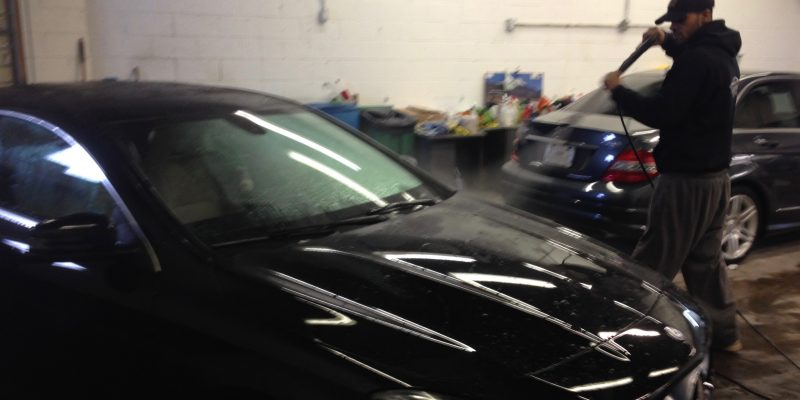 Our auto detailers at work